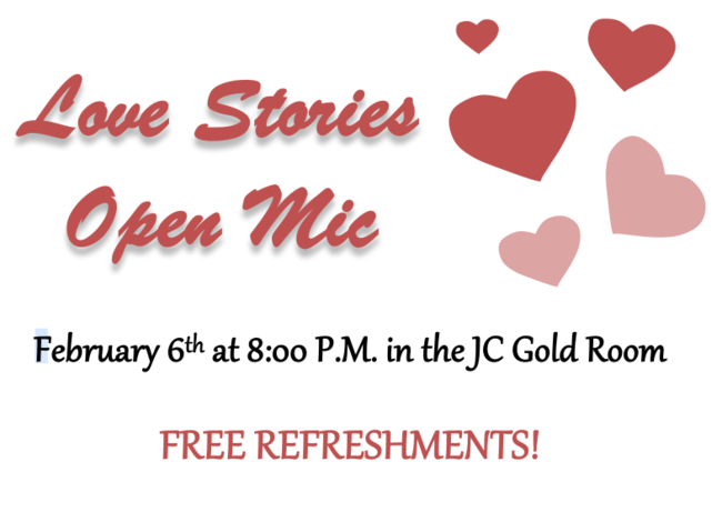 Love Stories - Open Mic Storytelling on February 6th