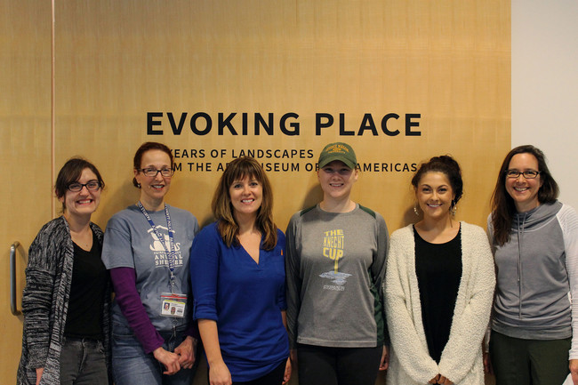 "Art History Students Curate Exhibit ""Evoking Place"" with Michele Greet"