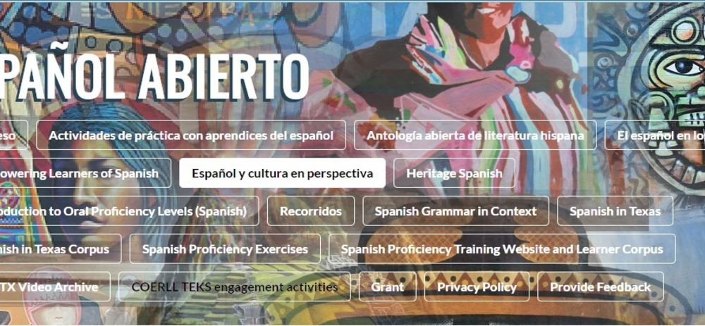 New MCL Spanish curriculum publication at           U of Texas COERLL