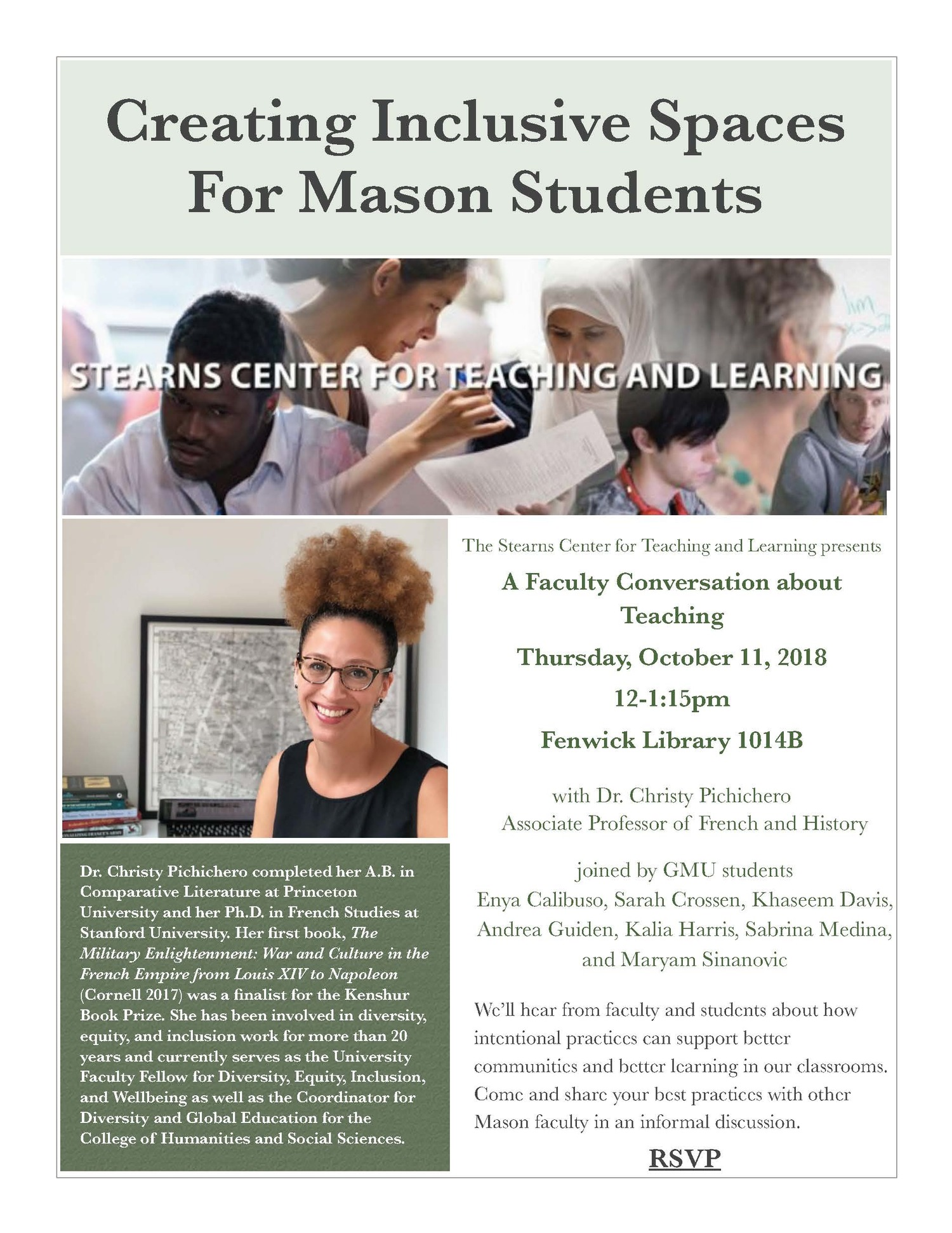 Creating Inclusive Spaces for Mason Students