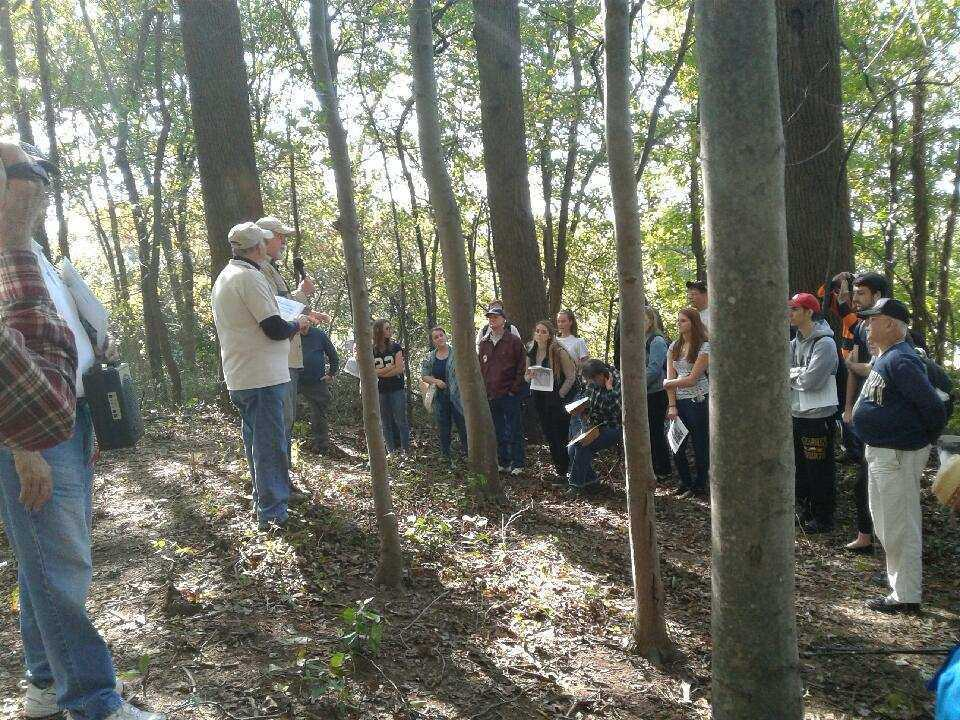 Students Explore Civil War Site on Campus