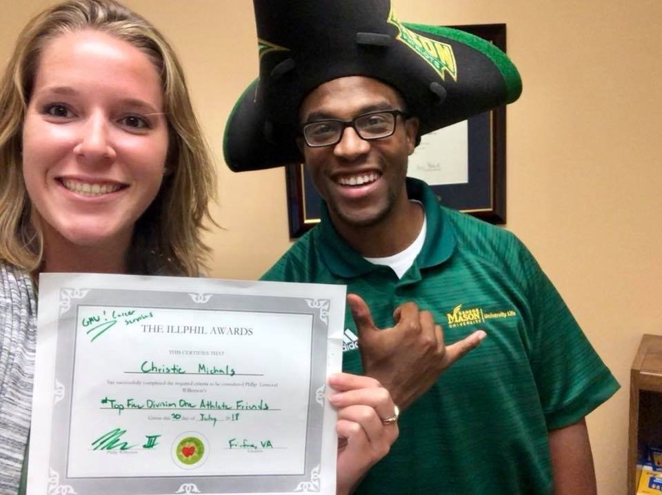 #TeamPositivity at University Career Services Spreads Well-Being at Mason
