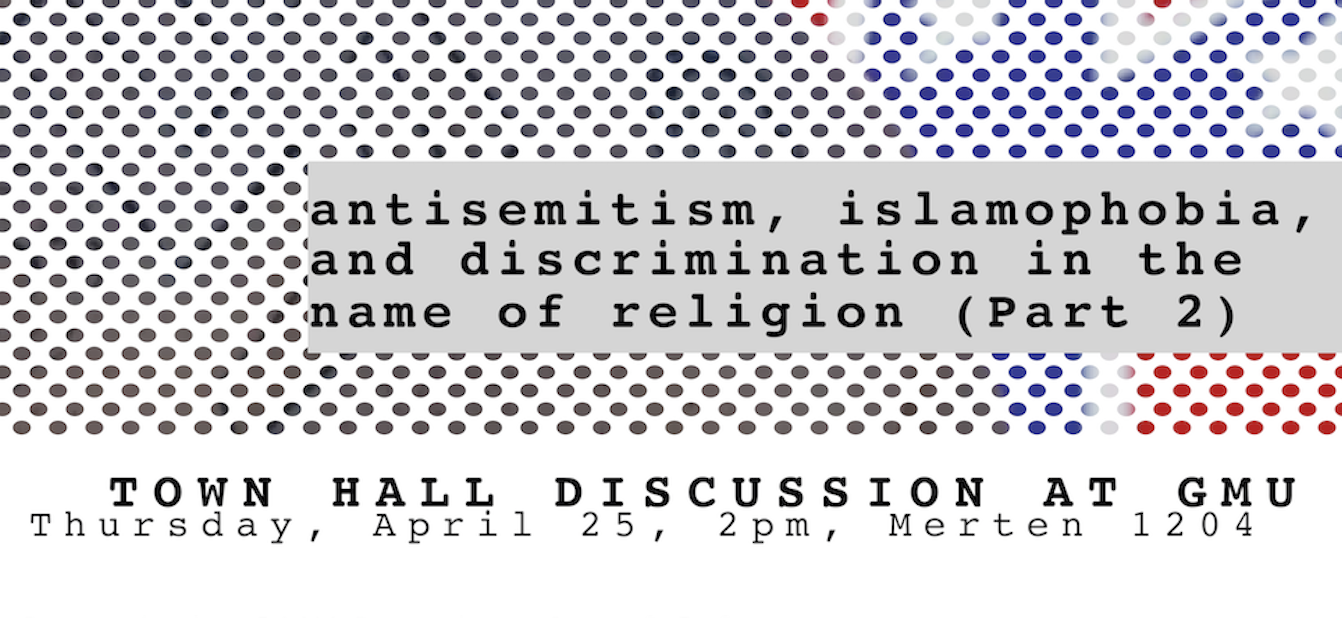 Antisemitism, Islamophobia, and Discrimination in the Name of Religion, Part II (25 April, 2pm)