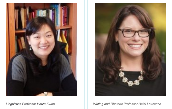 English Professors Harim Kwon and Heidi Lawrence Selected as Winners of Two Provost's Summer Team Impact Projects