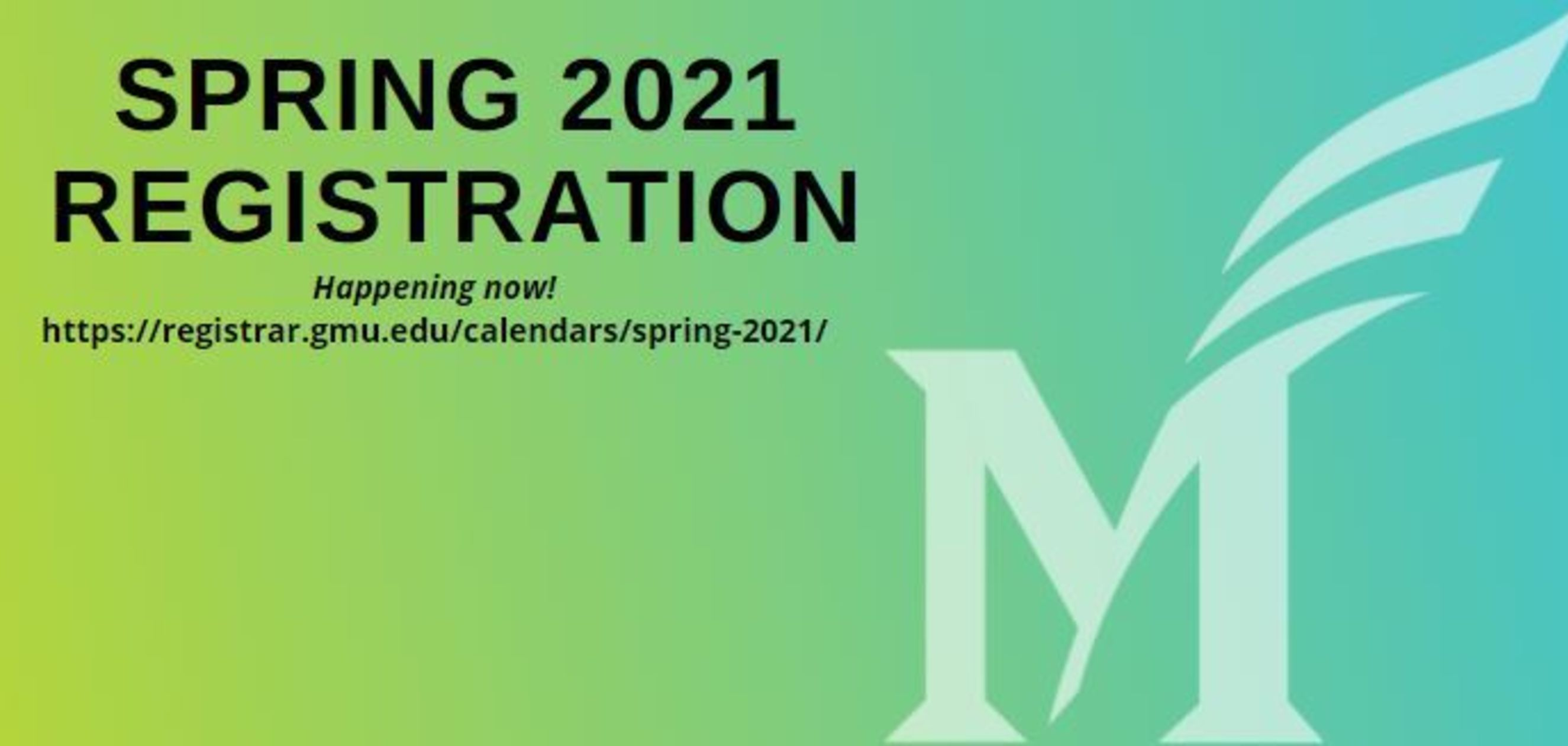 Don't Forget to Register for Spring 2021!