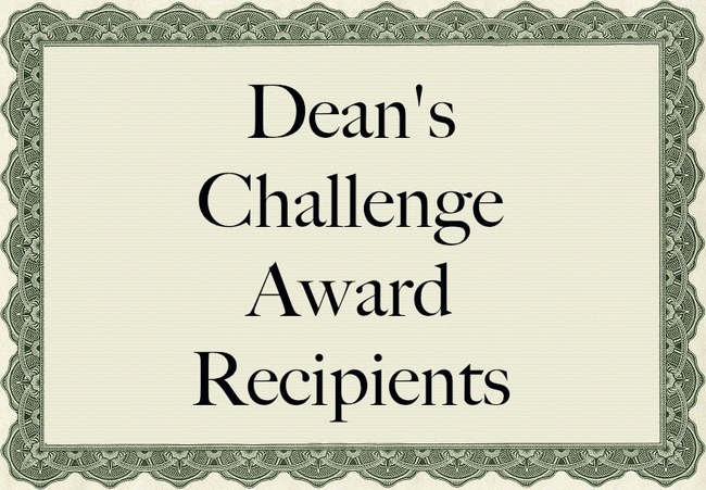 Three Global Affairs students are named Dean's Challenge Award Recipients