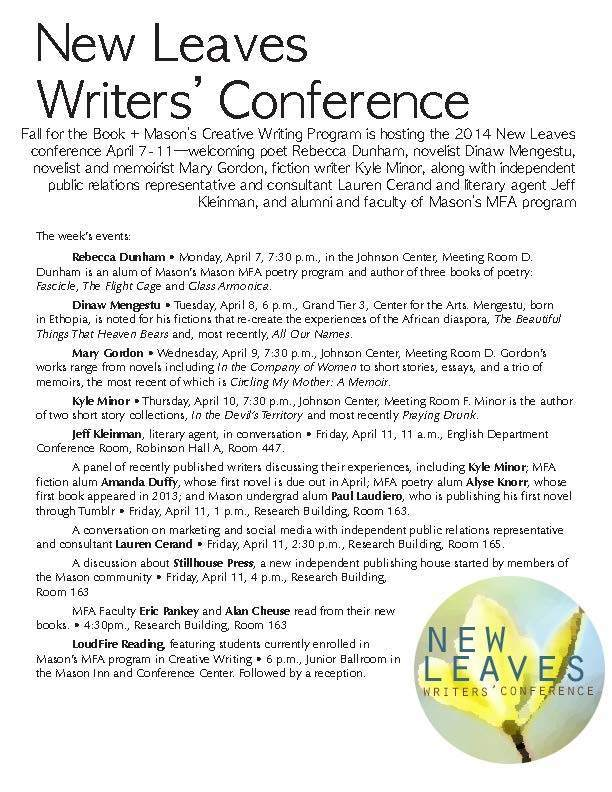 News: New Leaves Writers' Conference Starts This Week, April