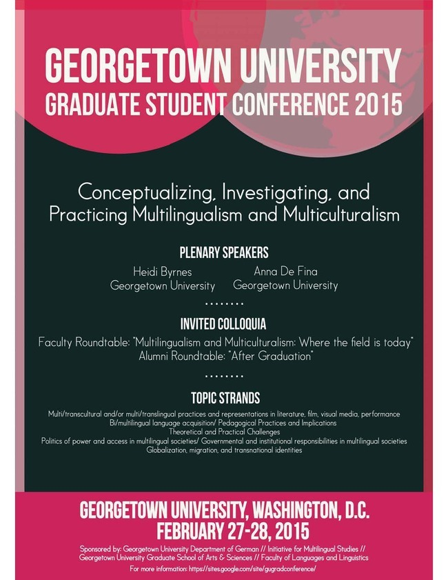 Join Graduate Language Students from Around the World for a Conference at Georgetown University!