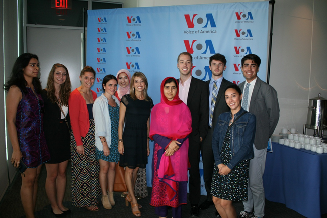 GLOA Director and Students Meet Nobel Laureate Malala Yousafzai