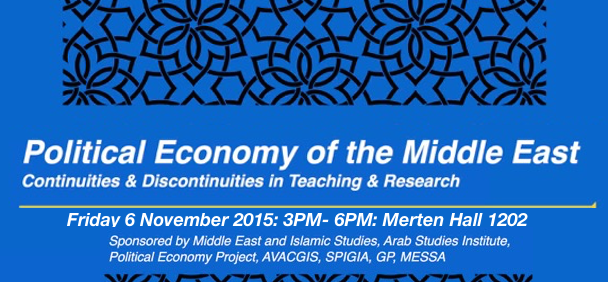 Political Economy of the Middle East Continuities & Discontinuities in Teaching & Research