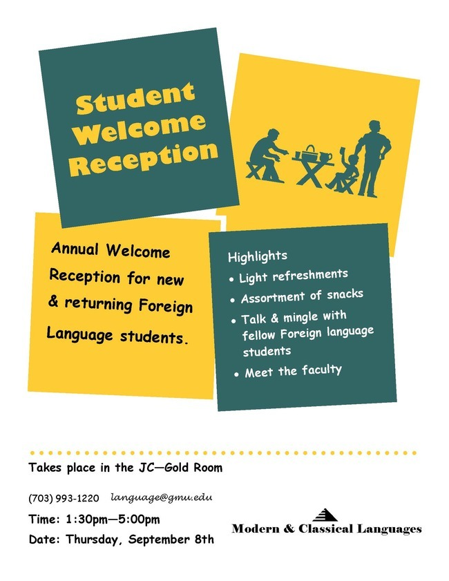 Annual Welcome Reception for New and Returning Foreign Language Students