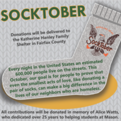 It's Socktober in the Undergraduate Academic Affairs Office