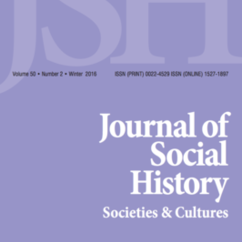 Journal of Social History Publishes New Issue in 50th Year