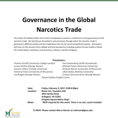 Conference on Governance in the Global Narcotics Trade