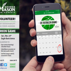 Volunteers Needed for Green Game: GMU vs UMass 2/24/18