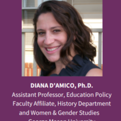 "WGST Affiliate Faculty,  Dr. Diana D'amico Featured on Panel: ""American Women on Campus: Past and Present"""
