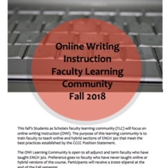 Online Writing Instruction (OWI) Composition Faculty Learning Community