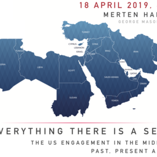 Event Announcement - US Engagement in the Middle East, Past, Present and...? By Steven Simon (18 April, 6pm)