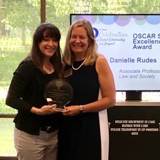 Rudes receives Sustaining Excellence Mentoring Award