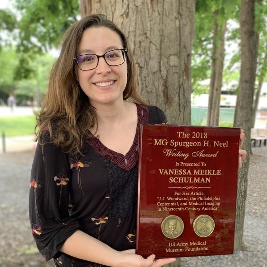 Vanessa Schulman wins award for scholarship on military medicine and visual culture in 19th-century America