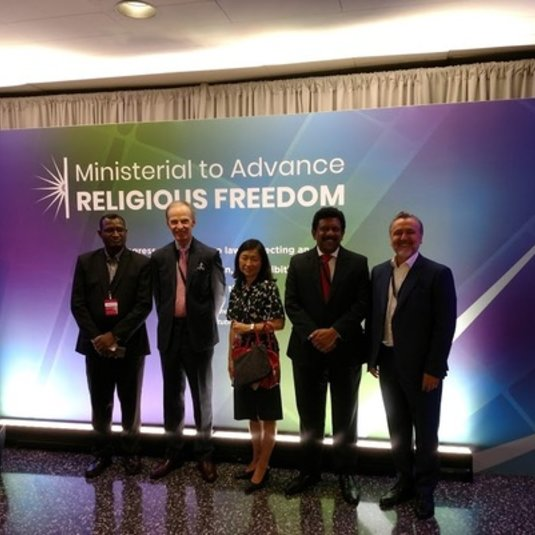 JOHN FARINA ATTENDS MINISTERIAL TO ADVANCE RELIGIOUS FREEDOM