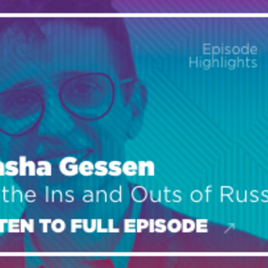 Conversations with Tyler podcast welcomes Russian-American author Masha Gessen