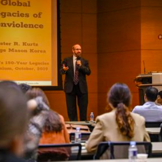 Mason Korea co-hosts international symposium to celebrate Gandhi's 150-year legacies