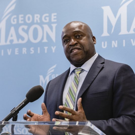 Gregory Washington, Mason's incoming president, says school is 'beacon for the country'