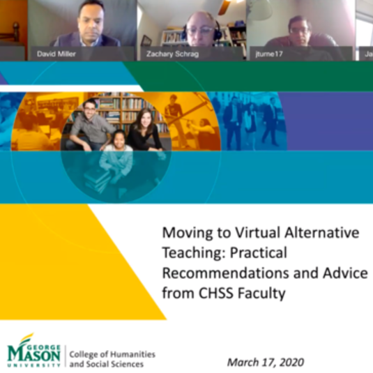 Virtual Learning Resources, Advice from CHSS Faculty