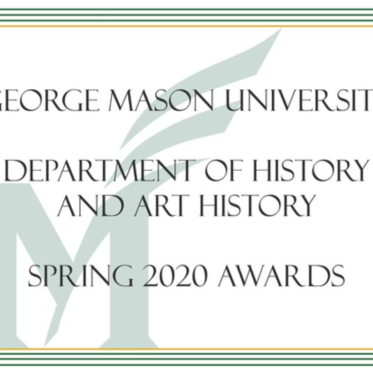 Department of History & Art History Awards Celebration Spring 2020