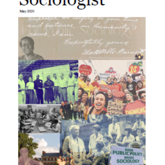 Special Edition of The Sociologist