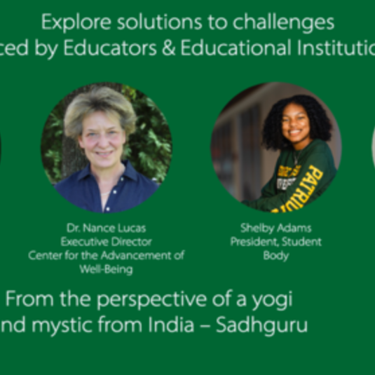 Mason Panel Interviews Yogi Sadhguru on Well-Being Perspectives for Higher Education