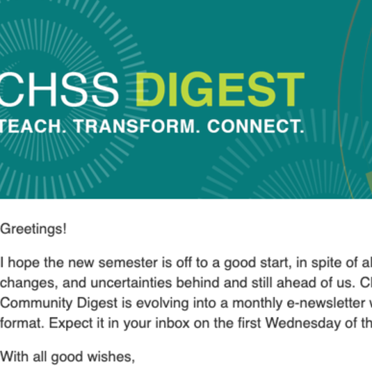 CHSS Digest First Issue
