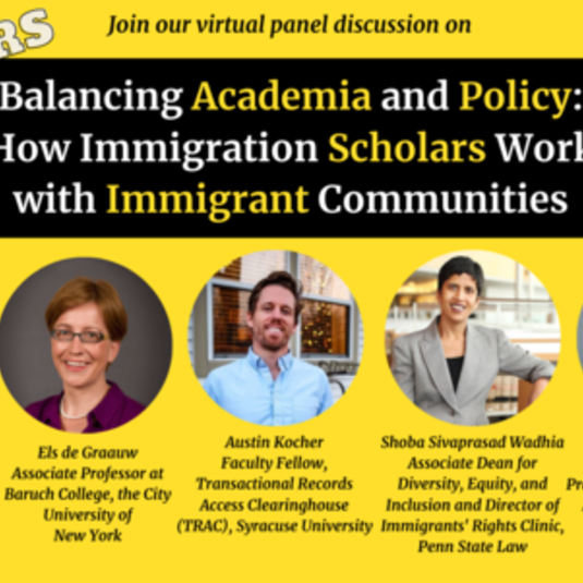 IIR Event: Balancing Academia and Policy: How Immigration Scholars Work with Immigrant Communities