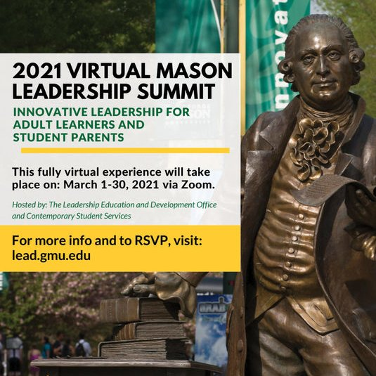 2021 Virtual Mason Leadership Summit - Focusing on Adult and Parent Learners