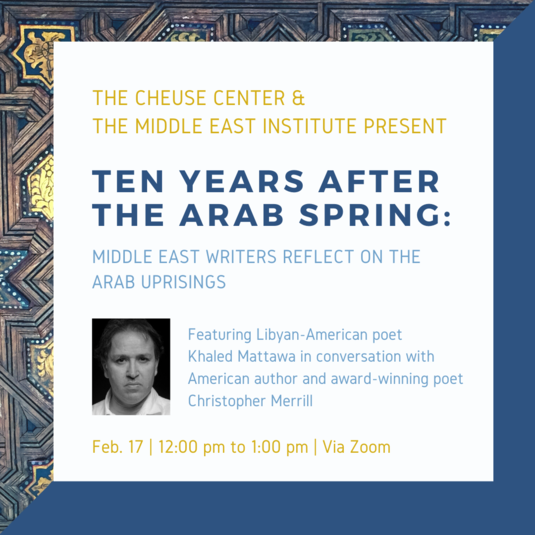 Ten Years After The Arab Spring Talk #3