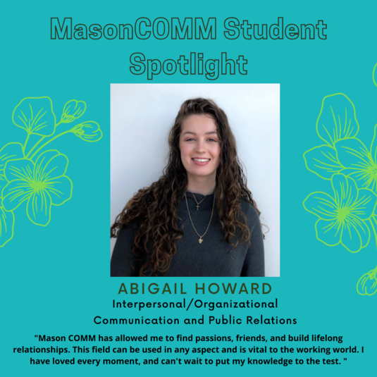 Student Spotlight:  March 17, 2021  Abigail Howard