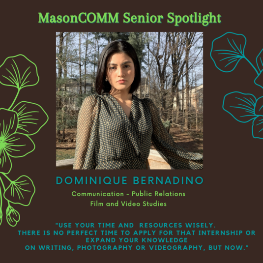Dominique Bernadino Student Spotlight:  4/14/21