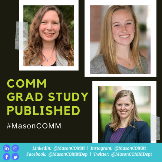 #MasonCOMM Grad Students Have Study Published