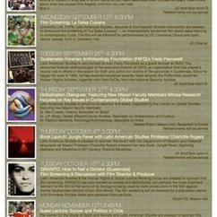 Latin Amerian Studies Fall 2012 Event Schedule