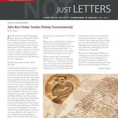 The Fall issue of Not Just Letters, the English Department Newsletter, is out!