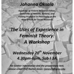 Feminist Theory Workshop with Prof. Johanna Oksala