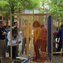 Judith Schneider, BIS Senior, Hosts a Life-Size Interactive Weaving Project at Mason