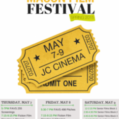Mason Film Festival Spring 2015 May 7-8-9 in Johnson Center Cinema