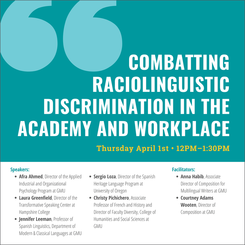 Combatting Raciolinguistic Discrimination in the Academy and Workplace