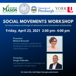Social Movements Workshop: An intercampus exchange of advanced social movement scholarship
