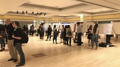 Students at 2018 Undergrad Research Symposium