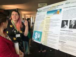 Summer Claveau presents her work at the May 2018 OSCAR Celebration of Research