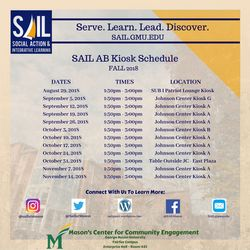 SAIL AB Fall 2018 Kiosk Schedule