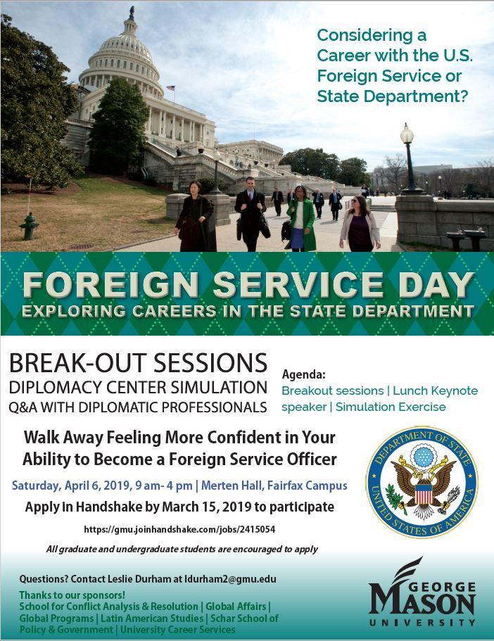 Pickering Program at GMU Foreign Service Day @ Merten Hall, Fairfax Campus